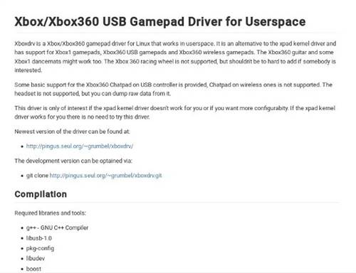 Instalando o driver XboxDRV