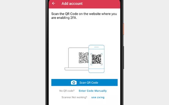 Digitalize o código QR com o seu telefone